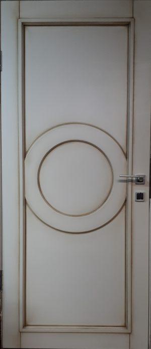 Межкомнатная дверь в профиле массив (эмаль с патиной) Благовещенск
