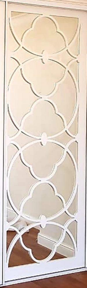 Вставка с фигурной филенкой на зеркале эмаль Благовещенск